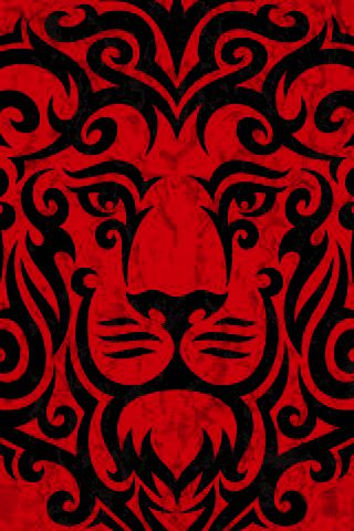 Colour red gives us that symbolic feeling of fear, danger, and this is used in this image as there's a lion created in this image which with the use of the red colour, this interferes with our human minds psychologically to feel fear and danger.