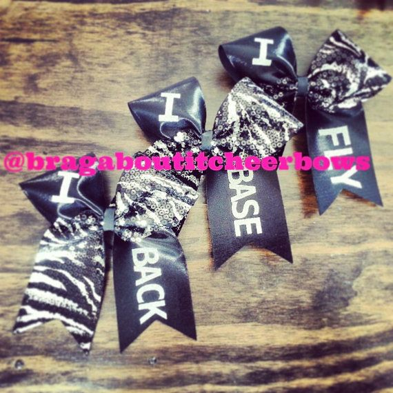 ifly iback ibase stunt group cheer bow on Etsy, $14.00