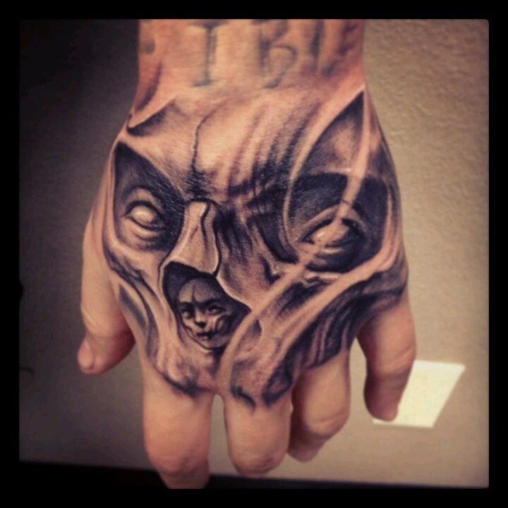 Hand Tattoo Black And Grey Amazing Detail Hand Tattoos Hand