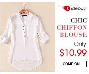 Tidebuy - Chic Chiffon Blouse
