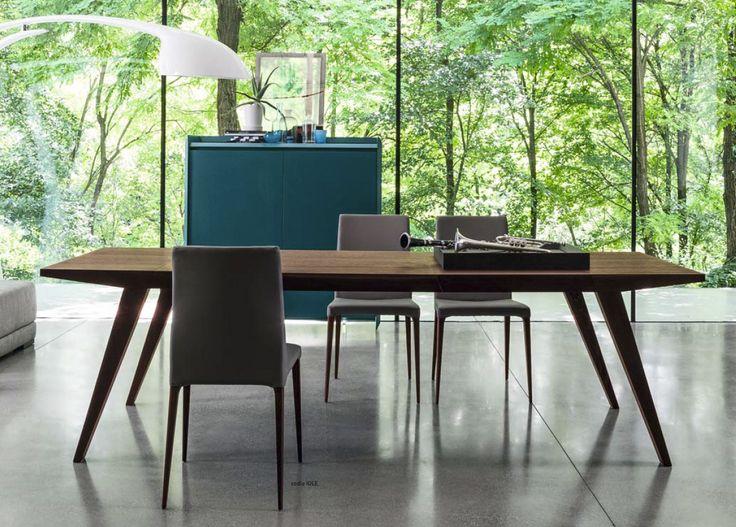 Włoski designerski drewniany rozkładany stół Flap rózne kolory wykończenia drewna