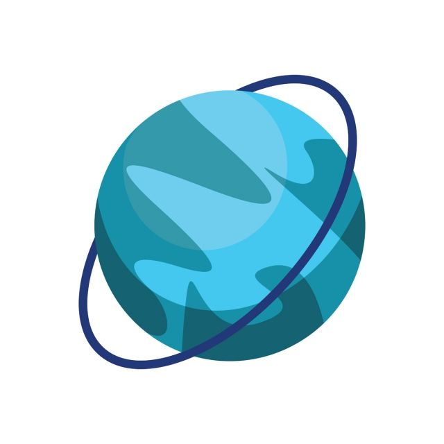 Cartoon Planet Uranus On White Background Vector Illustration Galaxy Clipart Space System Png And Vector With Transparent Background For Free Download Vector Illustration Geometric Background White Background