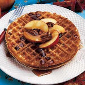 Buttermilk Pecan Waffles   Pretty hardy but good