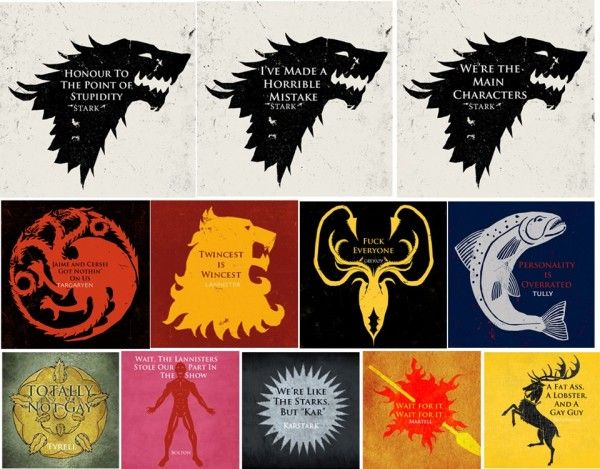 Honest Game of Thrones House Mottos [Image]