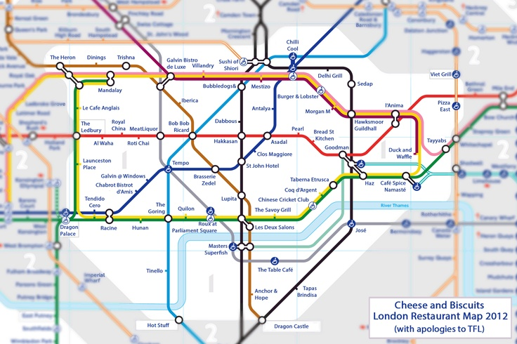 Cheese and Biscuits: London Restaurant Map 2012 >>  Here's some places to try - but no leaving zone 1 kids