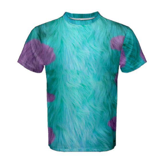 Mannen Sulley Monsters Inc geïnspireerd atletische Shirt