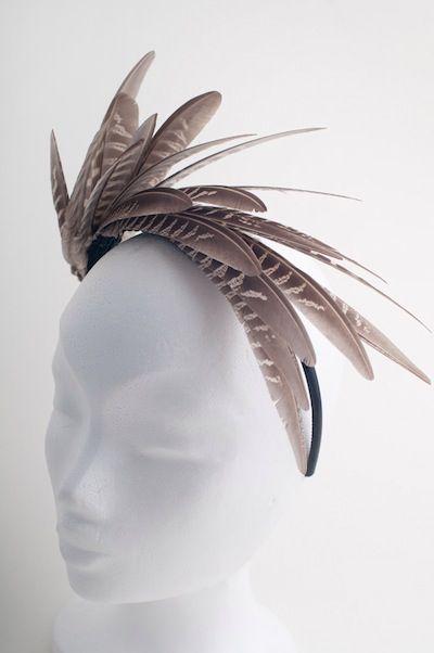 Ободок с перьями Фазан feather fascinator, feather headpiece