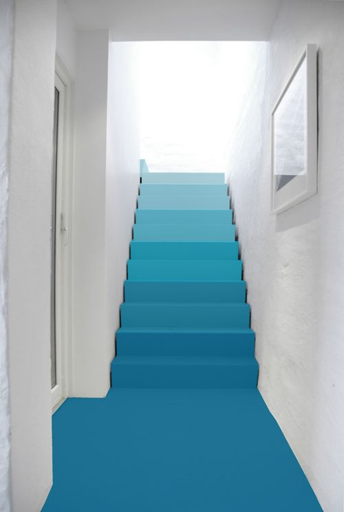 Ombre stairs to daughters attic... She'll like!