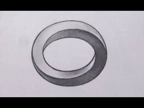 OP ART: How To Draw a Three Dimensional Oval - Optical Illusion - YouTube Art Ed Central loves.