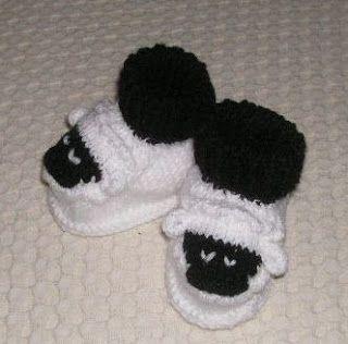 Knitting Galore: Cute Sheep Baby Booties