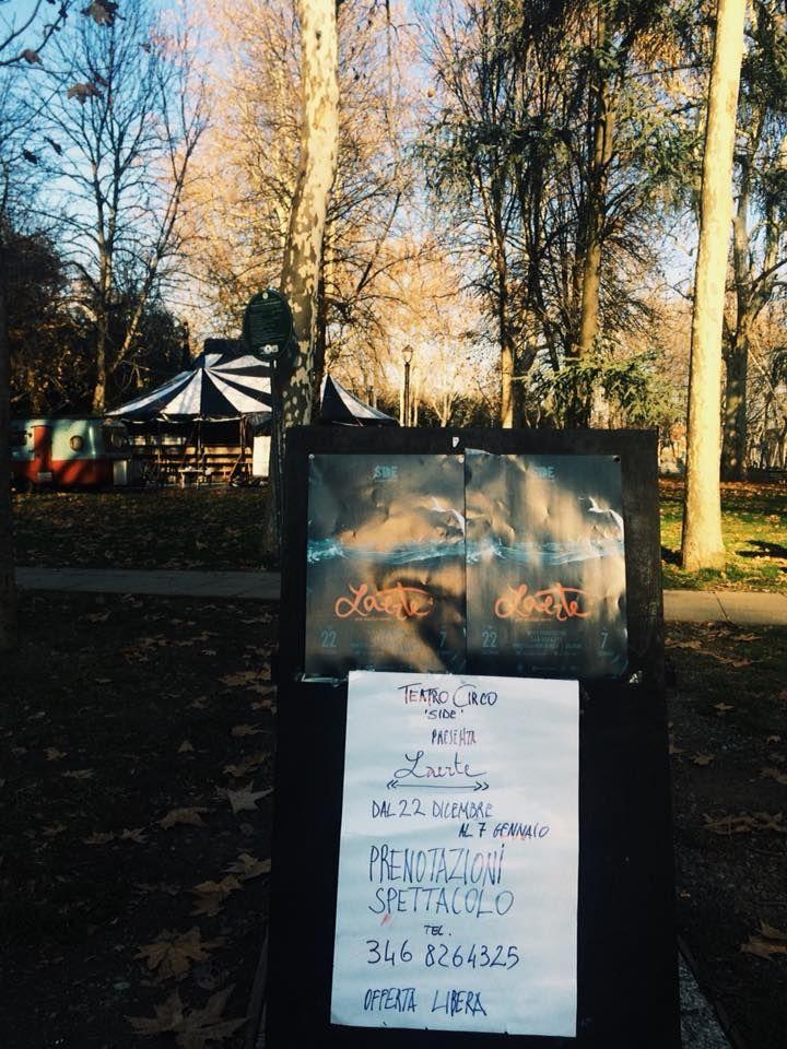 Da venerdì 22 dicembre 2017 al 7 gennaio 2018 torna il circo nel parco della Montagnola con il Side Kunst – Cirque, il teatro circo dal titolo Laerte