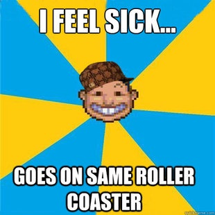 Scumbag Rollercoaster Tycoon Guest | Memes