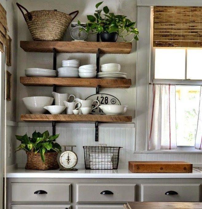 Las 25 mejores ideas sobre estantes de la cocina en for Muebles con tarimas para cocina