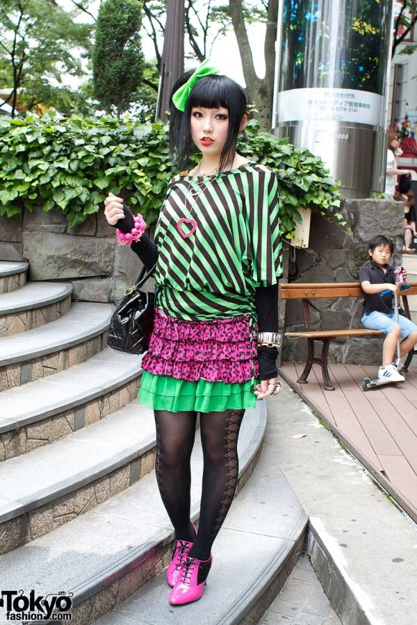 A Harajuku girl. AHMAHGAZ, I love the colors and patterns and all dat.