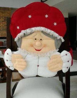 Navidad Moldes De Amanda: CUBRESILLAS NAVIDEÑOS