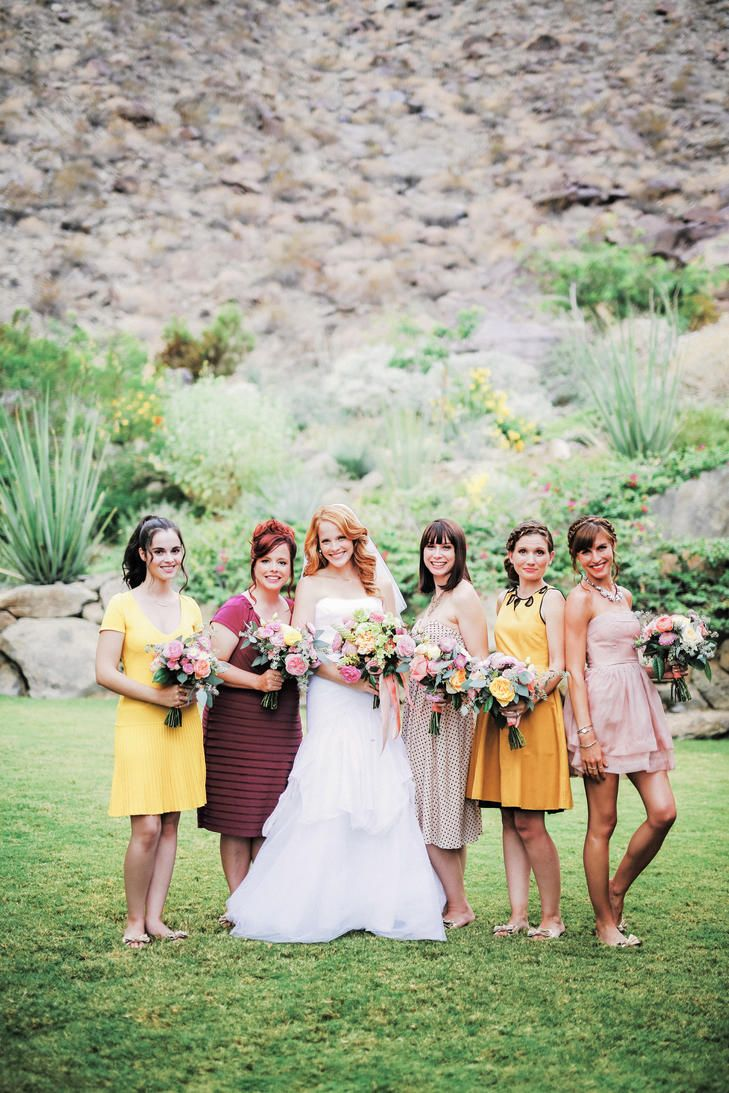 679 best bridesmaids images on pinterest bridesmaids bridal bright colorful casual bridesmaid dresses gideon photography httpknot ombrellifo Gallery