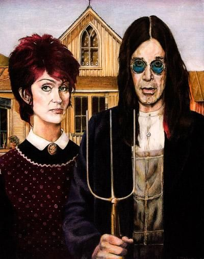 the paintings american gothic and rhythm Grant wood claimed that the inspiration for his painting, american gothic, came from a house that he chanced to see when he was being driven around iowa.