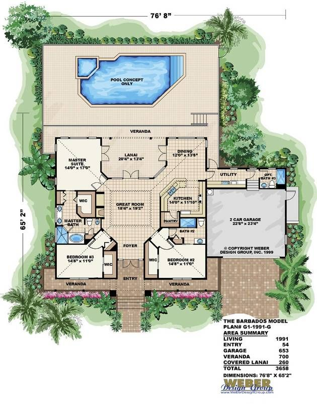 Old Florida Home Design | Barbados Home Plan   Weber Design Group Part 66