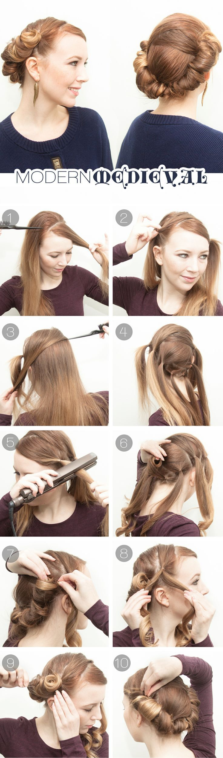 Easy Hairstyles On The Go 194 Best Images About Easy Hairstyles On Pinterest Nice Hair