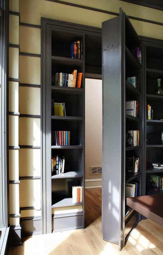 A Cool Bookshelf Doorway 572 890 In 2020 Hidden Rooms Renovation Secret Rooms