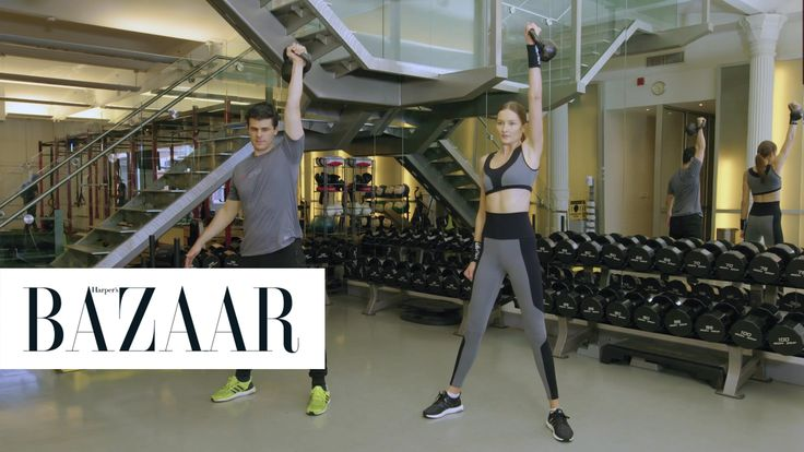 5 Kettle Bell Moves Supermodels Use: Trainer Thiago Passos shows model Solange Wilvert the five best moves supermodels use to get toned.
