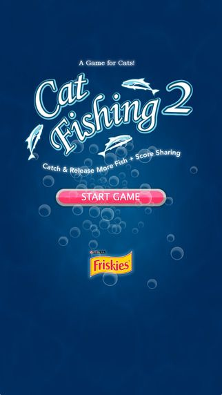 "Friskies® new Cat Fishing 2 is an all-new game designed especially for cats. Tap ""start"" and get ready to watch your cat go for the catch of the day. The more she catches, the more challenging the game gets"