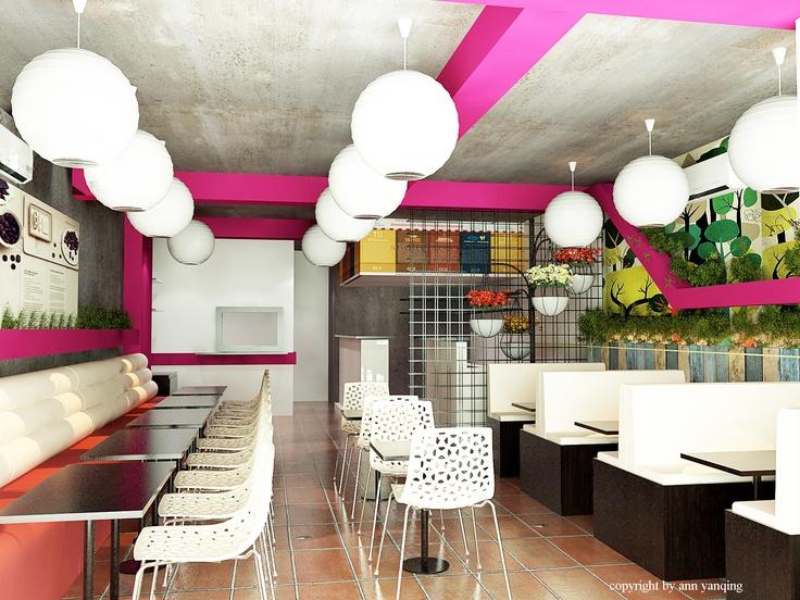 cafe design - Beaded Inset Restaurant Interior