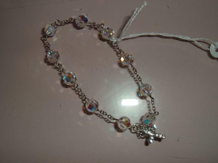 """Bracciale in swarosky """"rosario 10 grani"""""""