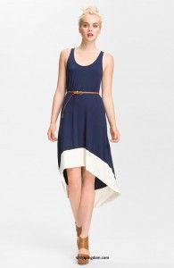FELICITY & COCO Belted Jersey Tank Dress