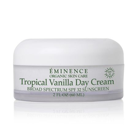 *Eminence Tropical Vanilla Day Cream SPF 32.* It's anti-againg, ultra hydrating, and it has a yummy scent!!!