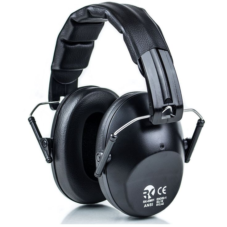 RK Shooting Hearing Protection Folding-Padded Ear Muff - Black