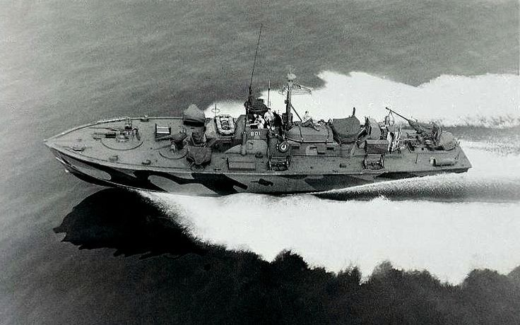 American Pt Boat Used In The Pacific War Powered By Three