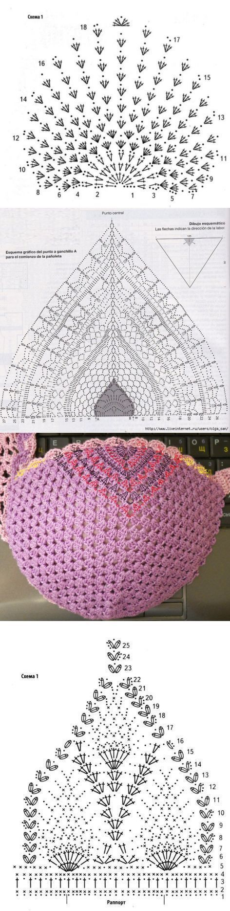 2359 best Croches e Trico images on Pinterest | Crochet patterns ...