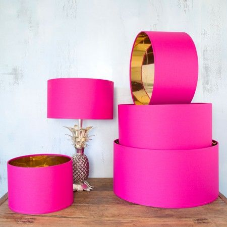 Hot Pink And Gold Shades - Lamp Shades - Lighting Accessories - Lighting