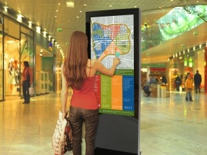 Interactive digital signage for indoor use. Ideal for wayfinding. http://www.lcd-enclosure.us
