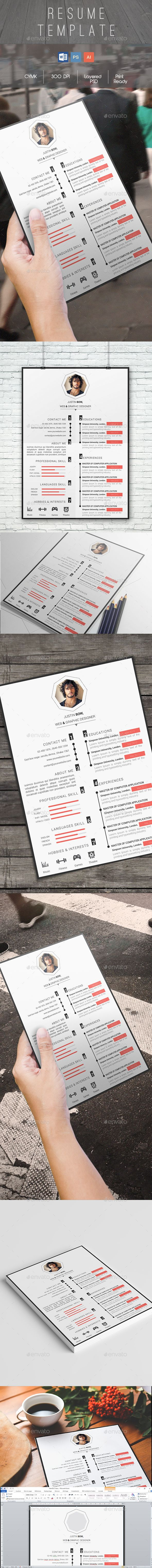 The Elegant CV Template PSD, Vector EPS / AI #design Download: http://graphicriver.net/item/the-elegant-cv/13959346?ref=ksioks
