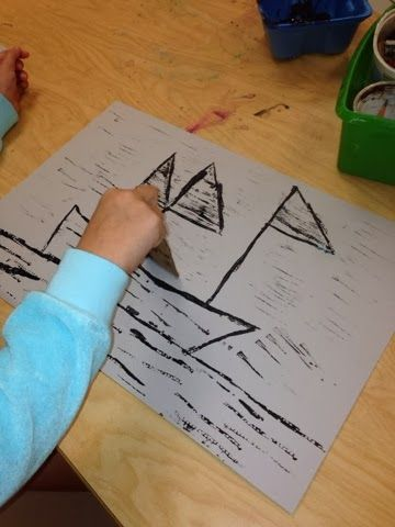 print boats- first grade