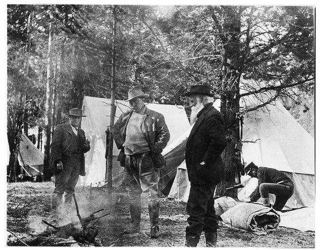 Yellowstone National Park Rv Parks >> John Burroughs camping in Yellowstone with Theodore Roosevelt in 1903 © AMNH Library/Image ...