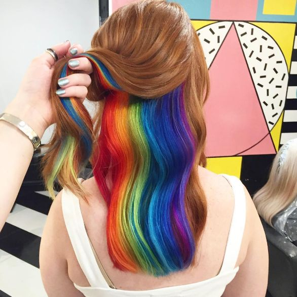 Hidden Rainbow Hair Is The Newest Trend We Might Just Be About