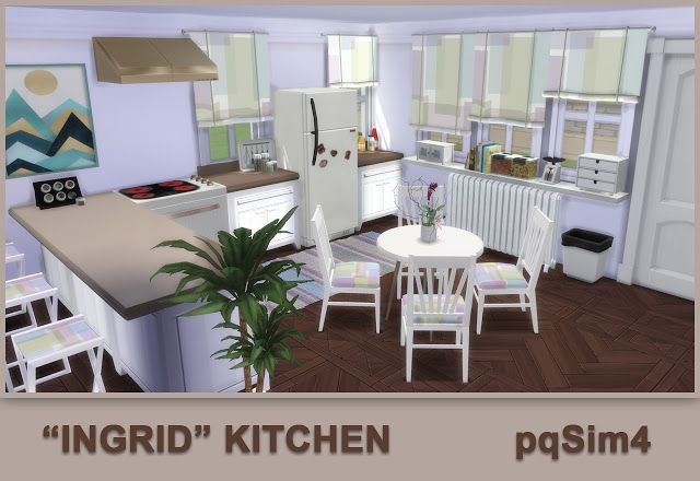 Ingrid Kitchen by Mary Jiménez at pqSims4 • Sims 4 Updates