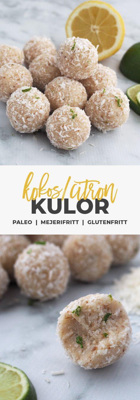 Recept: Kokoskulor / Bliss balls med citron och lime. Glutenfritt, mjölkfritt och naturligt sötat