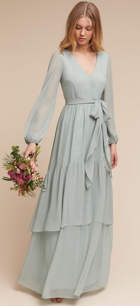 Billowing Sleeves and Flowy Chiffon