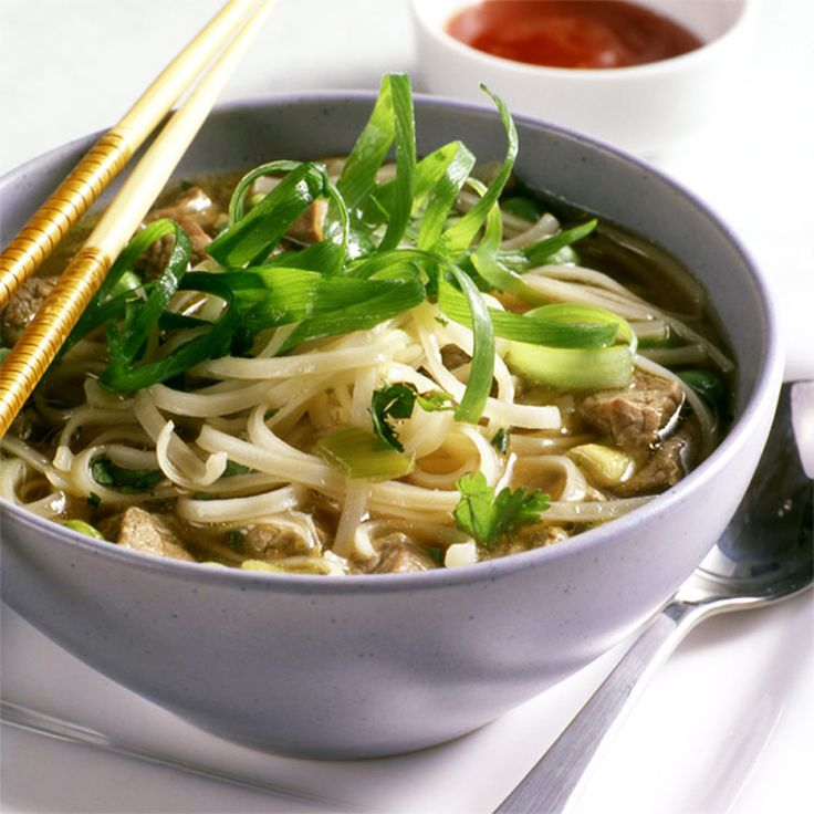 Kick up the spice in your kitchen with this Thai beef-noodle soup. It's simple to make, but will have the family asking which take-out spot you ordered from!