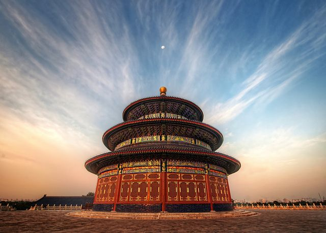 The Temple of Heaven - Beijing, China It's the most important Taoist structure in all of China and millions flock to it every year, especially during the National Holiday. It was built in the early 1400's during the reign of the Yongle Emperor.