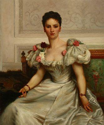 Clásico retrato y típica mujer de la época vestida en finas ropas. Exquisito trabajo de las facciones faciales. www.oilpainting.com.ar consultaweb@oilpainting.com.ar