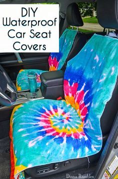 DIY Waterproof Seat Cover Sewing Tutorial - Need to protect your car seats from wet or dirty summer bodies? Make this easy waterproof seat cover to protect your car's upholstery. AD #SummerCarCare