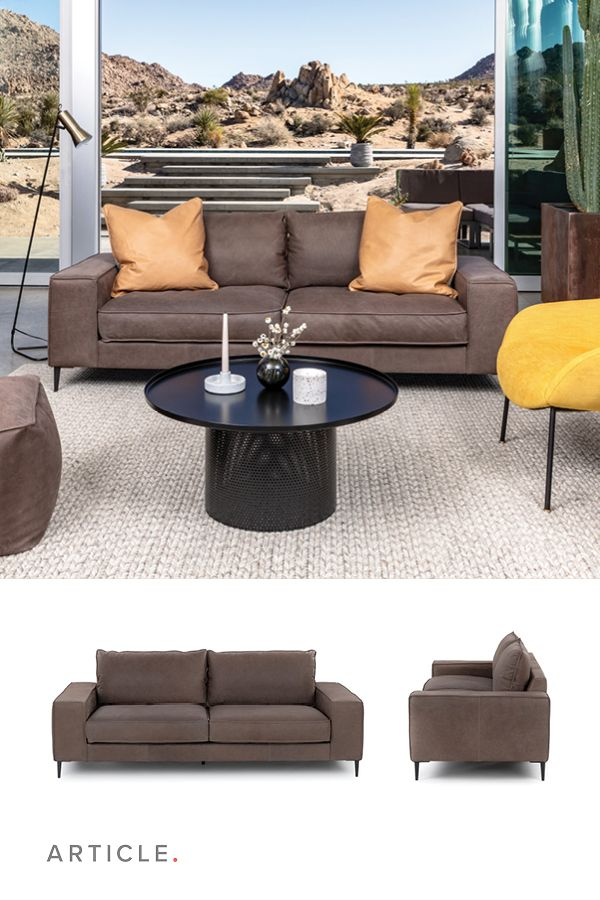 Solid Square Proportions And Dutch Full Aniline Leather Make This A Statement Sofa That Doesn T H Charcoal Sofa Mid Century Modern Sofa Outdoor Sectional Sofa