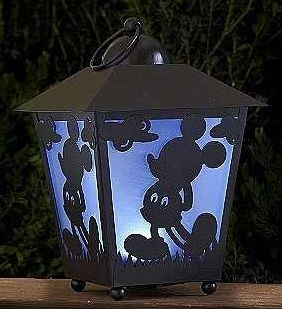 Disney 13in Mickey Mouse LED Lantern w LED Timer Garden Porch Patio Decor New | eBay