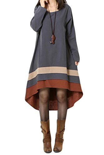 Generic Women's Long Sleeve Dress Autumn Clothing With Hi-Low Hem Generic http://www.amazon.com/dp/B00Q34QH18/ref=cm_sw_r_pi_dp_wvcFub03W2E72