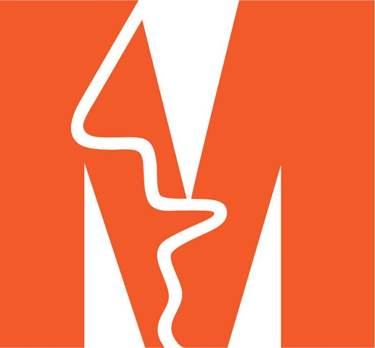 MOI EXERCISE: Figure/Ground Ideogram - M punctuated  by the profile of a face  - Monell Chemical Senses Center - Nose representative of smell, senses Identity | Paul Rand, American Modernist (1914-1996)
